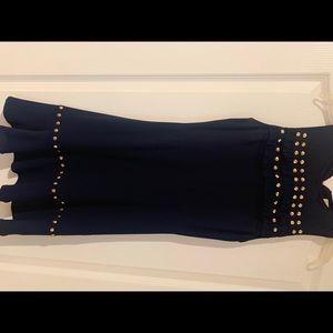 Dark blue studded dress